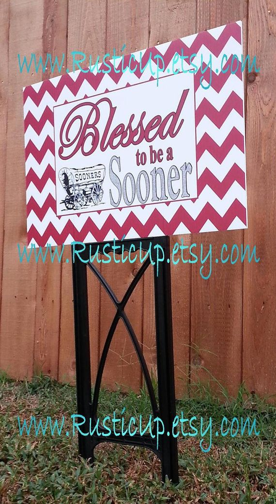 University of Oklahoms Spirit Sign  Boomer Sooner  by RusticUp