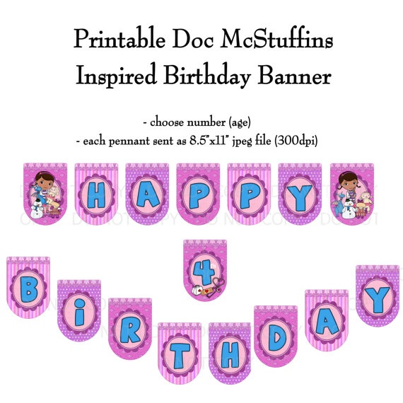 34 best doc mcstuffins images on pinterest birthday party ideas doc mcstuffins printable diy doctheme birthday banner by onelovedesignsllc 1500 solutioingenieria Gallery