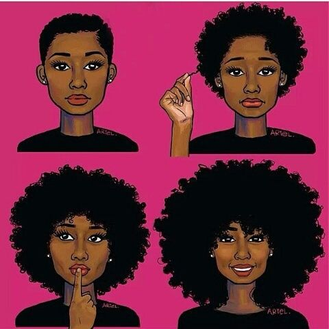 Image result for Cartoon of a black girl with natural hair