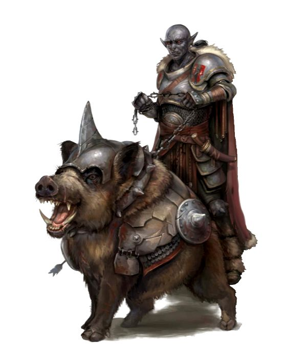 Hobgoblin Hunter and Warthog - Ironfang Invasion - Pathfinder PFRPG DND D&D d20 fantasy