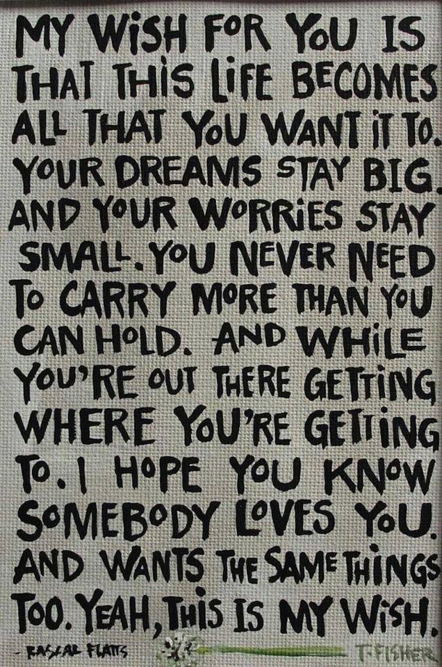 .My wish love positive words