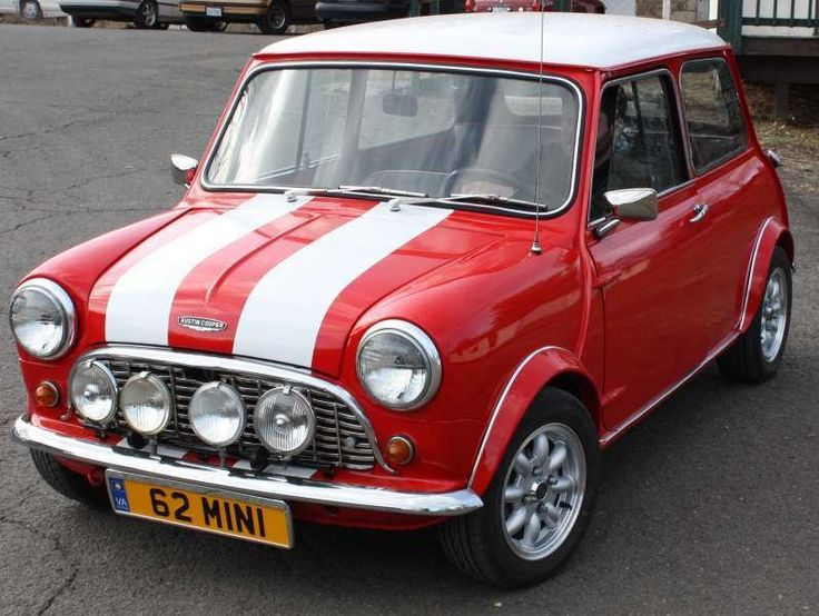 1962 Austin Mini Cooper - Red with white racing stripes