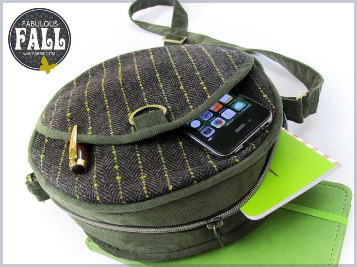 Canteen Bag in Wool & Corduroy: Fabulous Fall with Fabric.com | Sew4Home