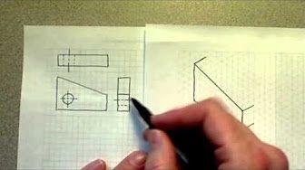 Comment dessiner une perspective isométrique - YouTube