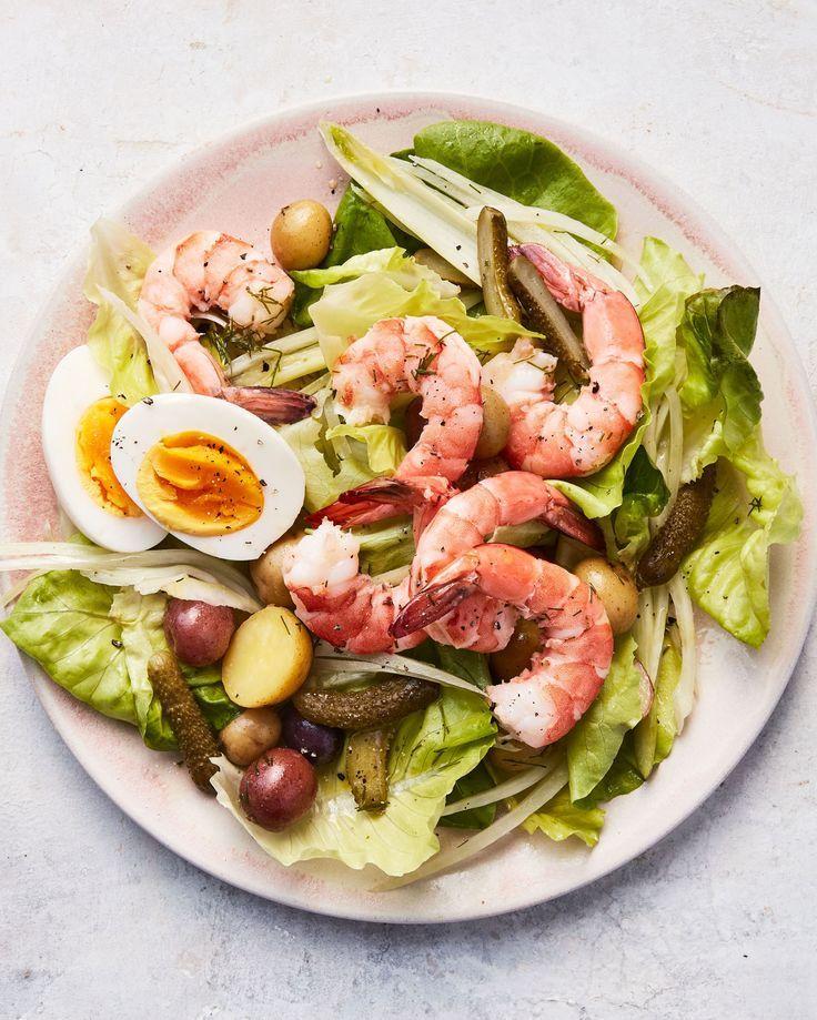 Scandinavian Shrimp Salad Recipe Shrimp Salad Dinner Salads Main Course Recipes