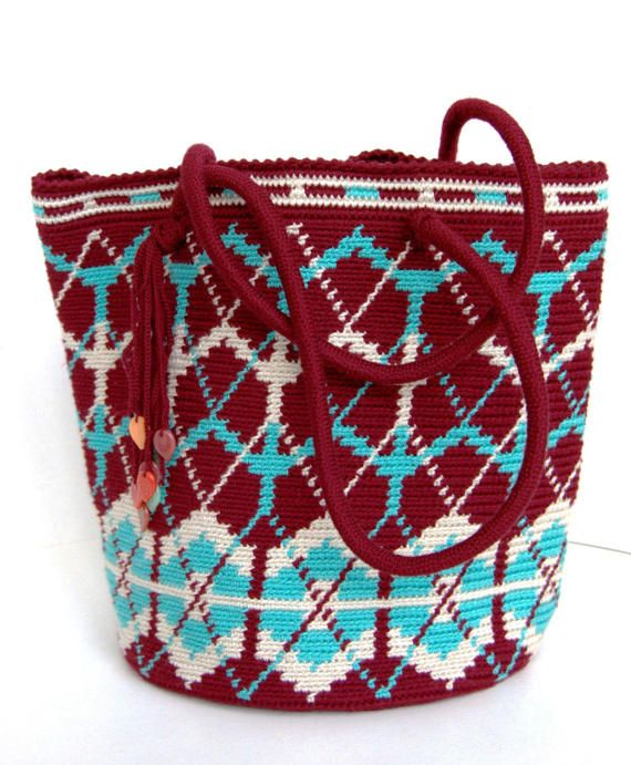 Crochet handbag bag  Original handbag bag