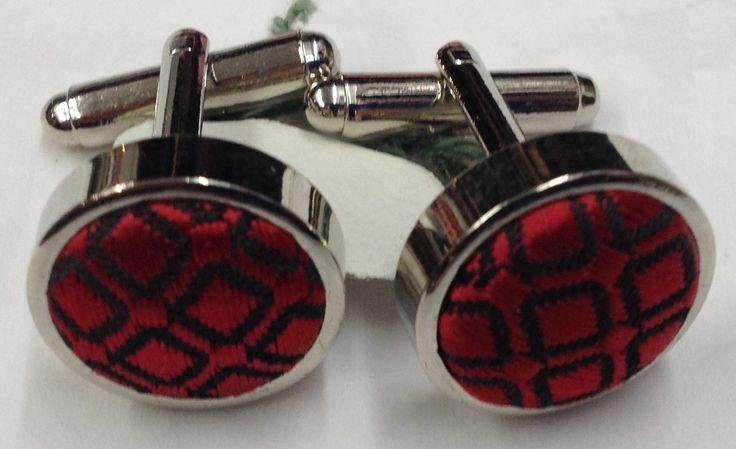 Vintage Cufflinks Red Fabric . . . . . der Blog für den Gentleman - www.thegentlemanclub.de/blog