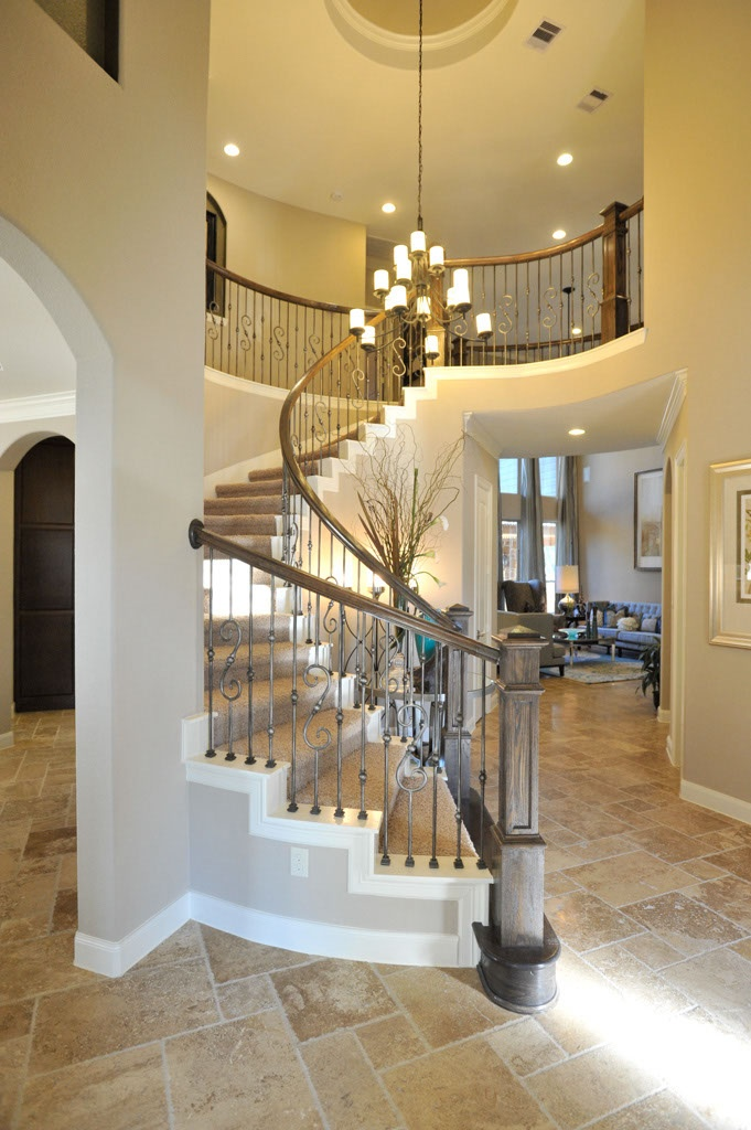 This is my dream staircase, an art deco inspired swirl :)