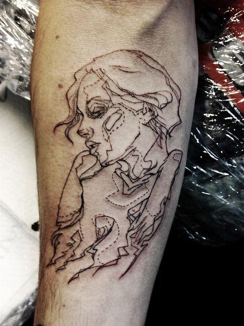 Phenomenal tattoo by Liisa Kask, at Mama's Pride Tattoo in Tallinn, Estonia