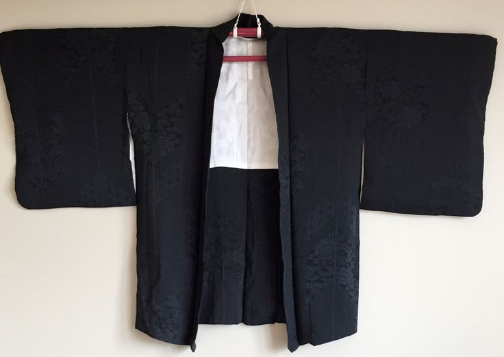 A personal favourite from my Etsy shop https://www.etsy.com/au/listing/464387488/1950s-black-haori-kimono-jacket-boho
