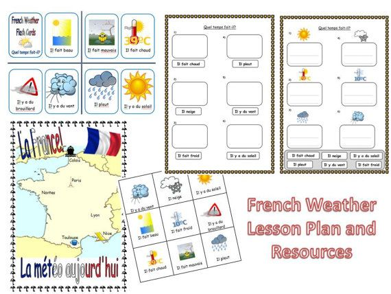 French Weather Lesson Plan and Resources by FrenchResourcesByJo
