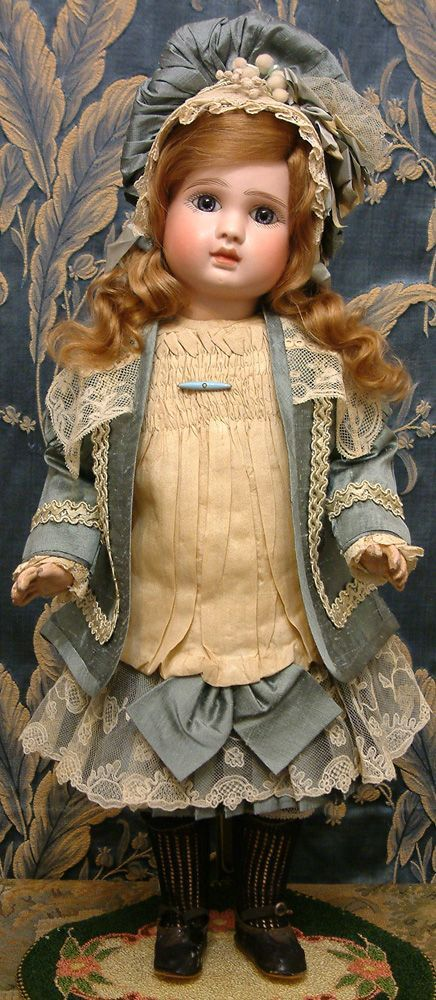 "19"" Jules N. Steiner Fre A French Bebe Antique Doll in Fabulous Couture Costume!"