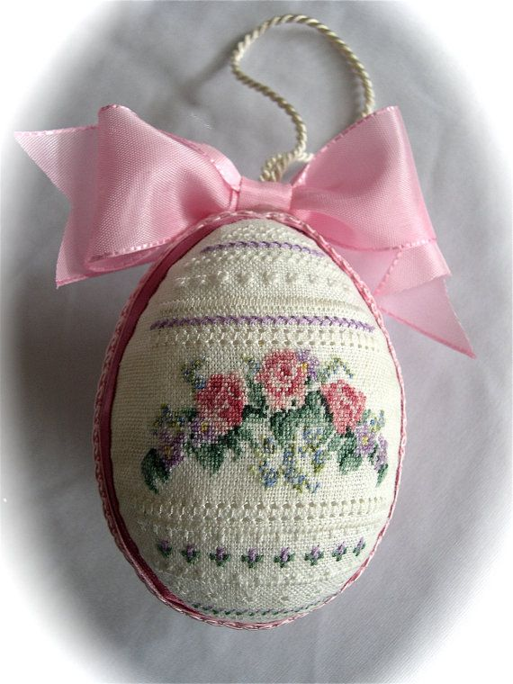 Hand embroidered Cross Stitch ornament