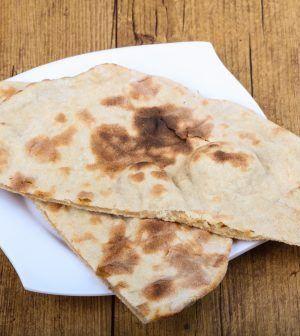 Koolhydraatarm naanbrood met knoflookolie