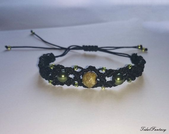 #Black #bracelet #witchy #bracelet #knotted bracelet #dark by TidalFantasy