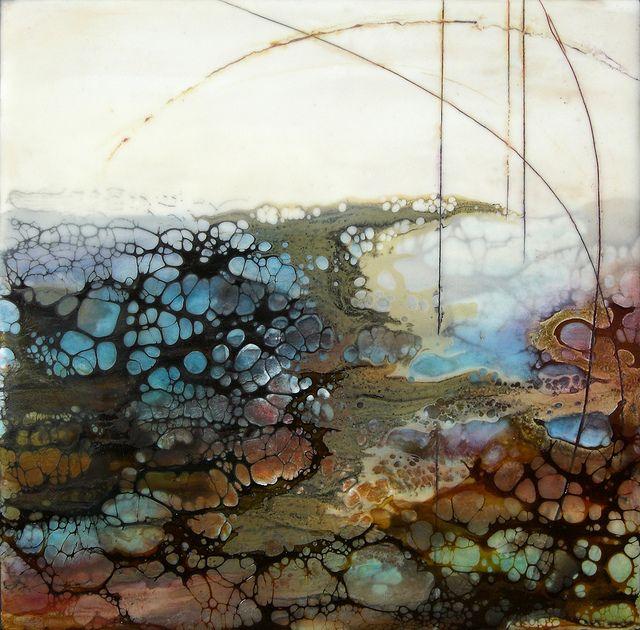 Encaustic - Geode II by Alicia Tormey, via Flickr