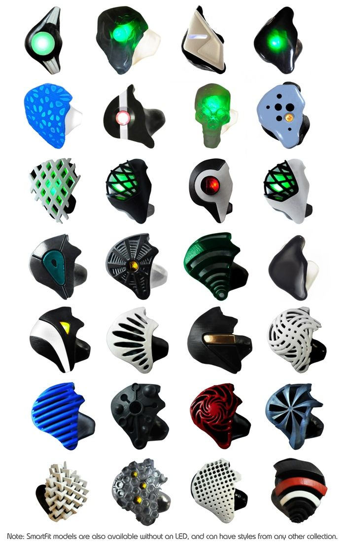 3D printed earbud designs