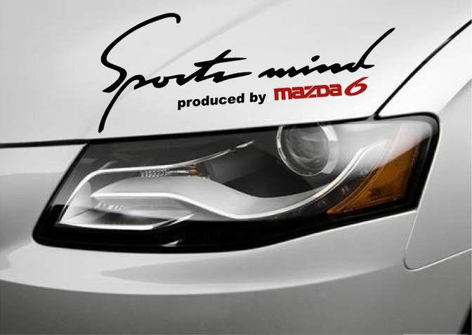 Sports mind produced by mazda 6 vinyl decal sticker emblem logo black