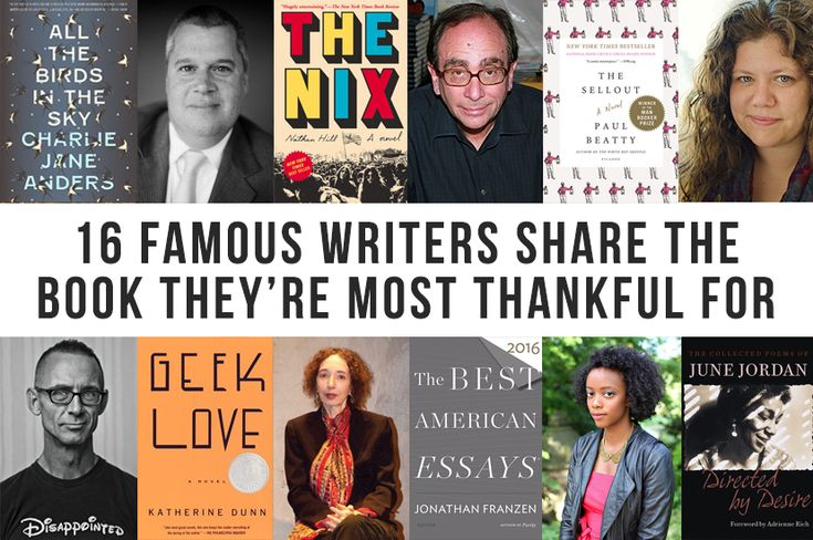 16 authors share the book they are most thankful for.