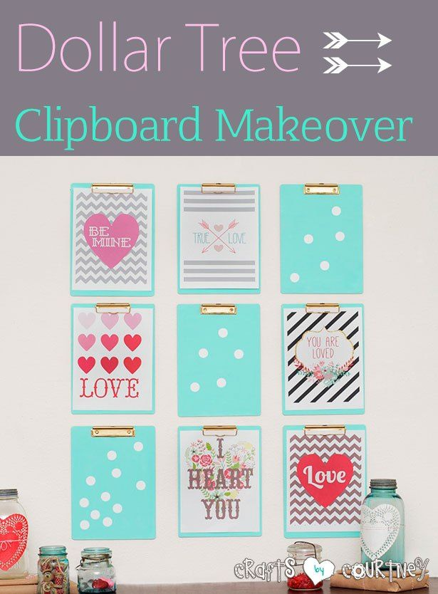 DIY Dollar Tree Clipboard Project: See how I turned Dollar Tree Clipboards Into Decorative Frames. Great for a idea board for craft/art room.