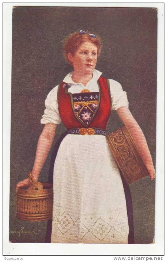 Solveig Lund Postcard Norway