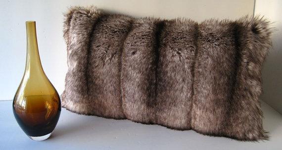 Mountain Fox Light Brown Faux Fur Decorative by WilhelminaJacobsLA, $69.99