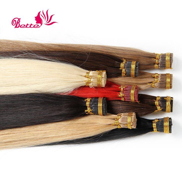 VERT ZACHTE Remy Human Haarverlenging Keratine 1g/Strand Remy Human Keratine 100G Braziliaanse Ik Tip Hair Extensions 1g