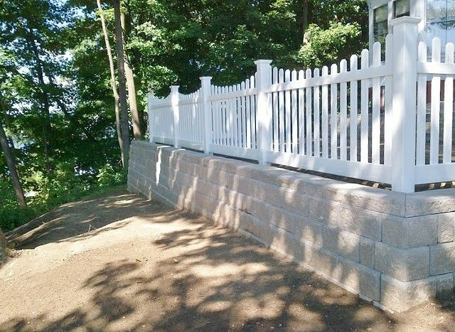 14 Best Retaining Wall W Fence Images On Pinterest