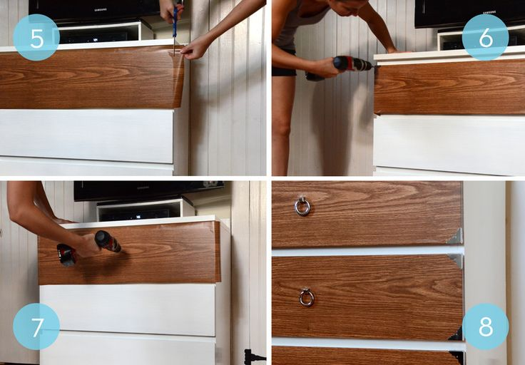 Before And After A Campaign Style IKEA Malm Hack Simple