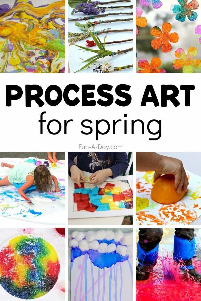 Spring Process Art Activities For Preschoolers Fun A Day In 2021 Process Art Preschool Preschool Art Activities Spring Arts And Crafts