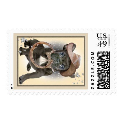 French Bulldog Country Boy Postage Stamps - dog puppy dogs doggy pup hound love pet best friend