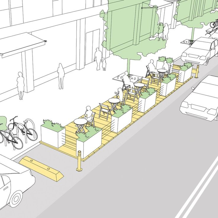 Parklets - National Association of City Transportation Officials #LandscapeArquitecture