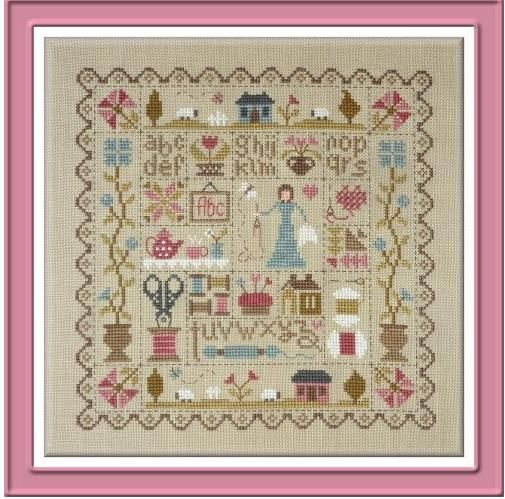 1000 images about crafts cross stitch and embroidery on for Jardin prive