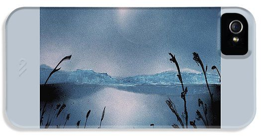 Moon Fog IPhone 5 / 5s Case Printed with Fine Art spray painting image Moon Fog by Nandor Molnar (When you visit the Shop, change the orientation, background color and image size as you wish)