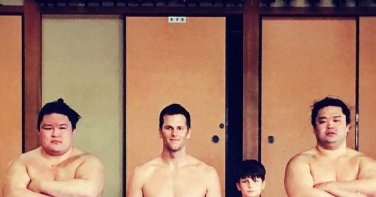 Tom Brady Shares Incredible Photos of Him and Sumo Wrestlers in Japan