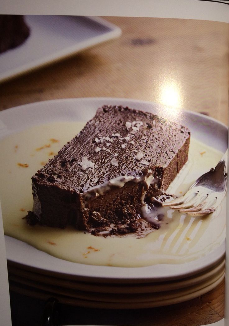 "This is Ina's Dark Chocolate Terrine with Orange Sauce from her ""Make it Ahead"" cookbook. I'm making it tomorrow for a dinner party. Can't wait!"