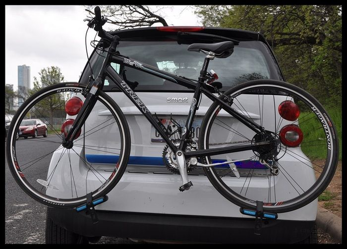 a bike rack for smart cars that will fit in your messenger back, by Ryan Battle — Kickstarter