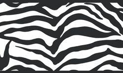 877635 Girly Glam Zebra Wallpaper Border Black