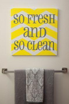 yellow and gray bathroom decor   Gray and yellow bathroom