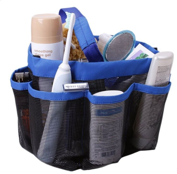 Amazon.com - Quick Dry Hanging Toiletry and Bath Organizer with 8 Storage Compartments, Shower Tote, Mesh Shower Caddy, Perfect Dorm, Gym, Camp & Travel Tote Bag, Black -