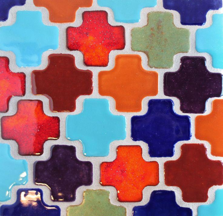 We love bright moroccan tiles! - Mercury Mosaics