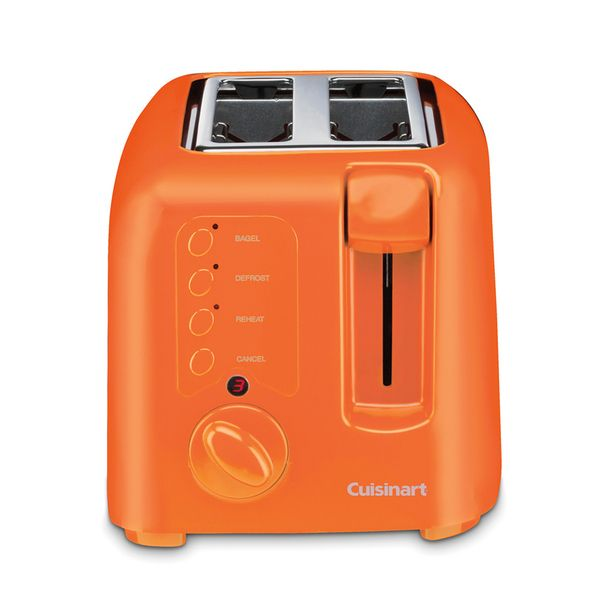 Yellow Small Kitchen Appliances: Compact 2-Slice Toaster Orange