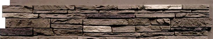 Insulated Faux Stone Siding - Slatestone Series - Slatestone Brunswick Brown (17.12 Sq.Ft. per Box) / Panel