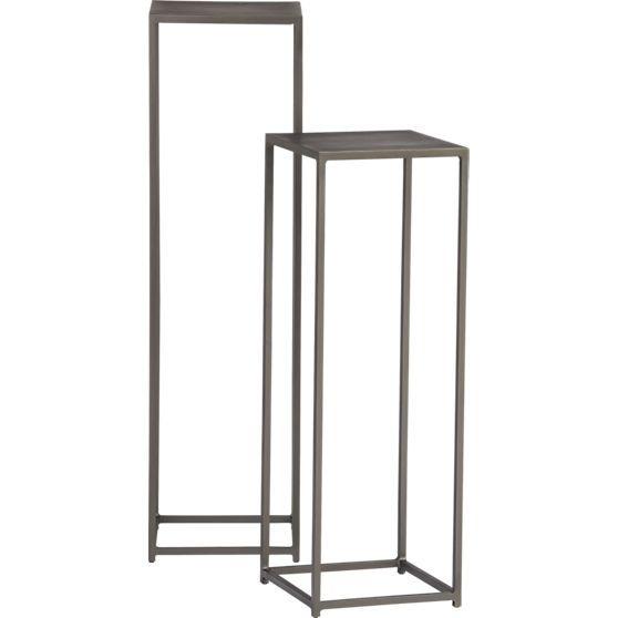 mill pedestal tables | CB2