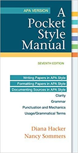 a pocket style manual 7th edition apa version ebook in 2018