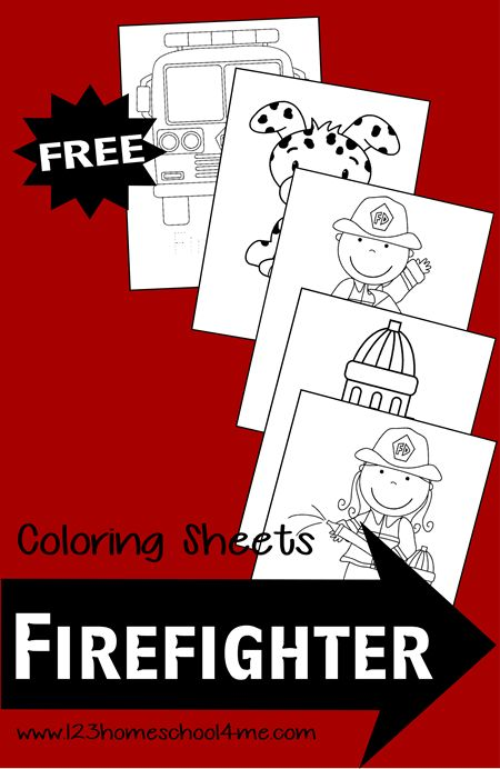 Firefigther Coloring Pages (free!) #coloringpages #preschool #toddler