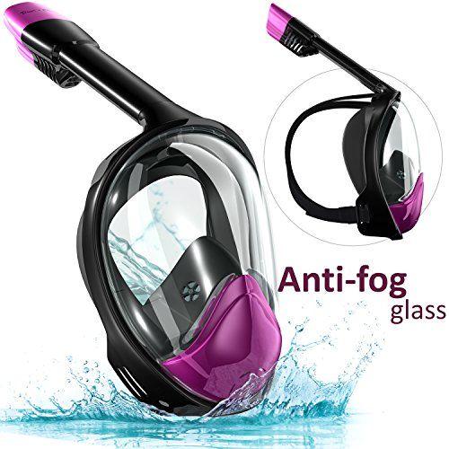 Snorkel Set Full Face Mask, Seaview with Camera Mount Divers Choice Black/Purple. - http://scuba.megainfohouse.com/snorkel-set-full-face-mask-seaview-with-camera-mount-divers-choice-black-purple/