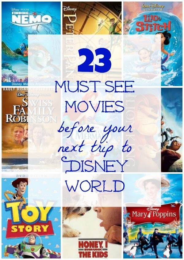 Excellent list of movies to see before going to Walt Disney World in Florida!  Covers films that link to the park rides and attractions -- great for family movie nights!