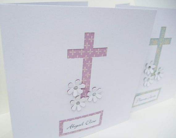 Personalised Christening Card  Baptism Card  Paper by Nikelcards, £3.10