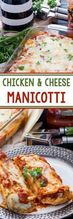 manicotti with cream chicken and artichokes recipe